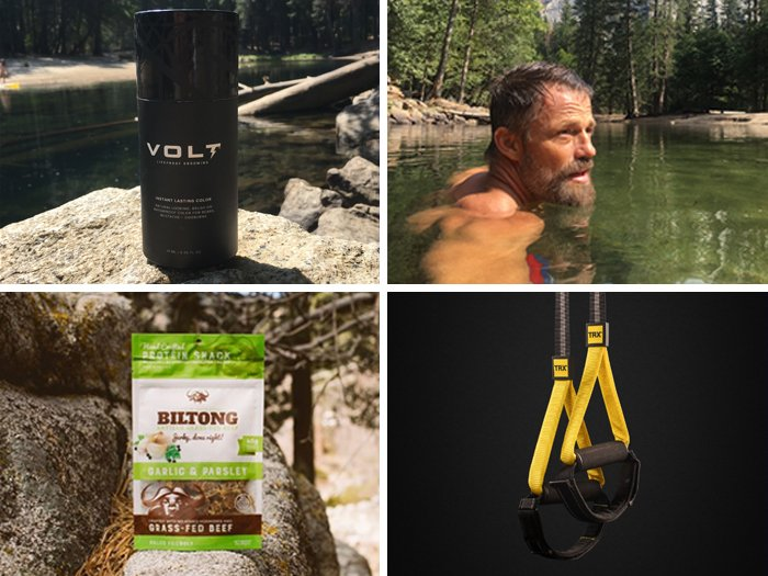 Jaro Turek's workout essentials feat. VOLT Instant Beard Color, TRX and California Bilton