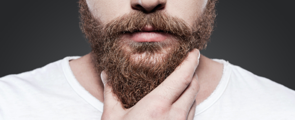 Man Touching Beard