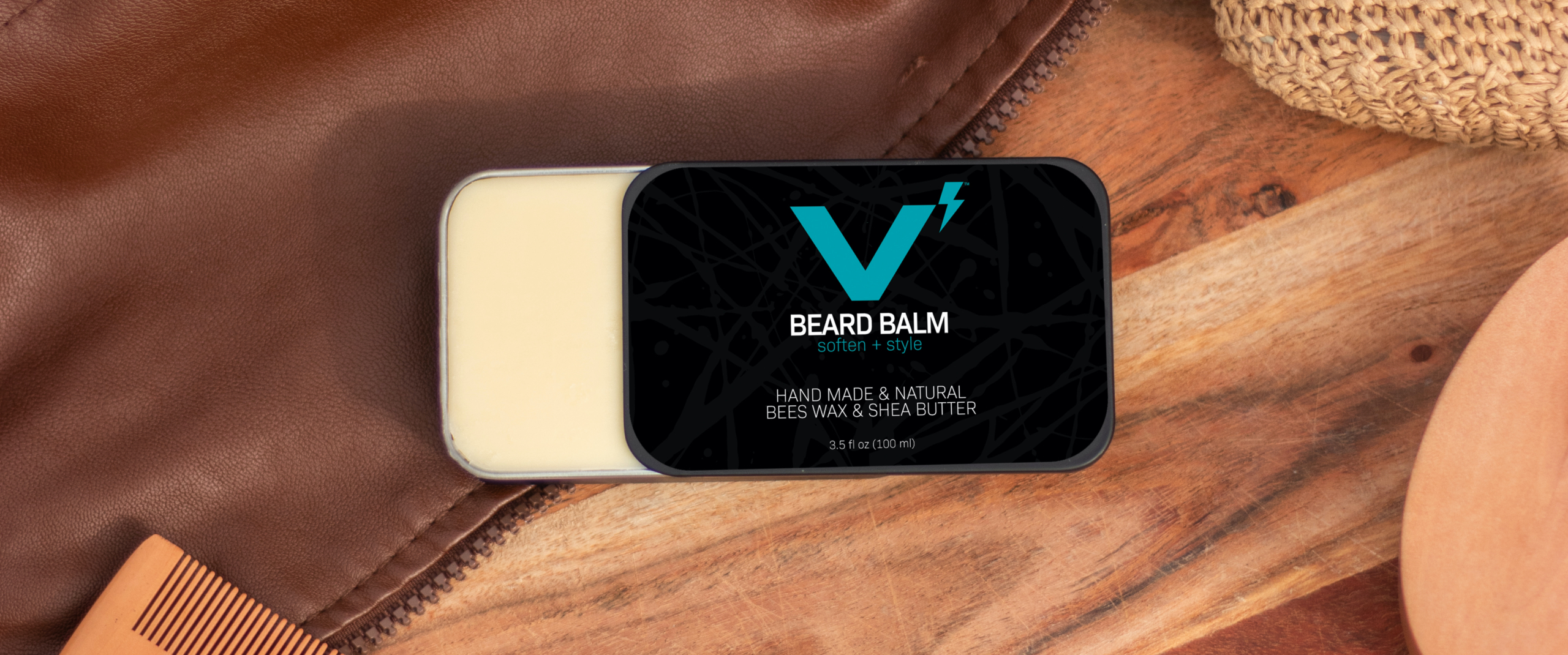 Beard Balm 3.5oz Open