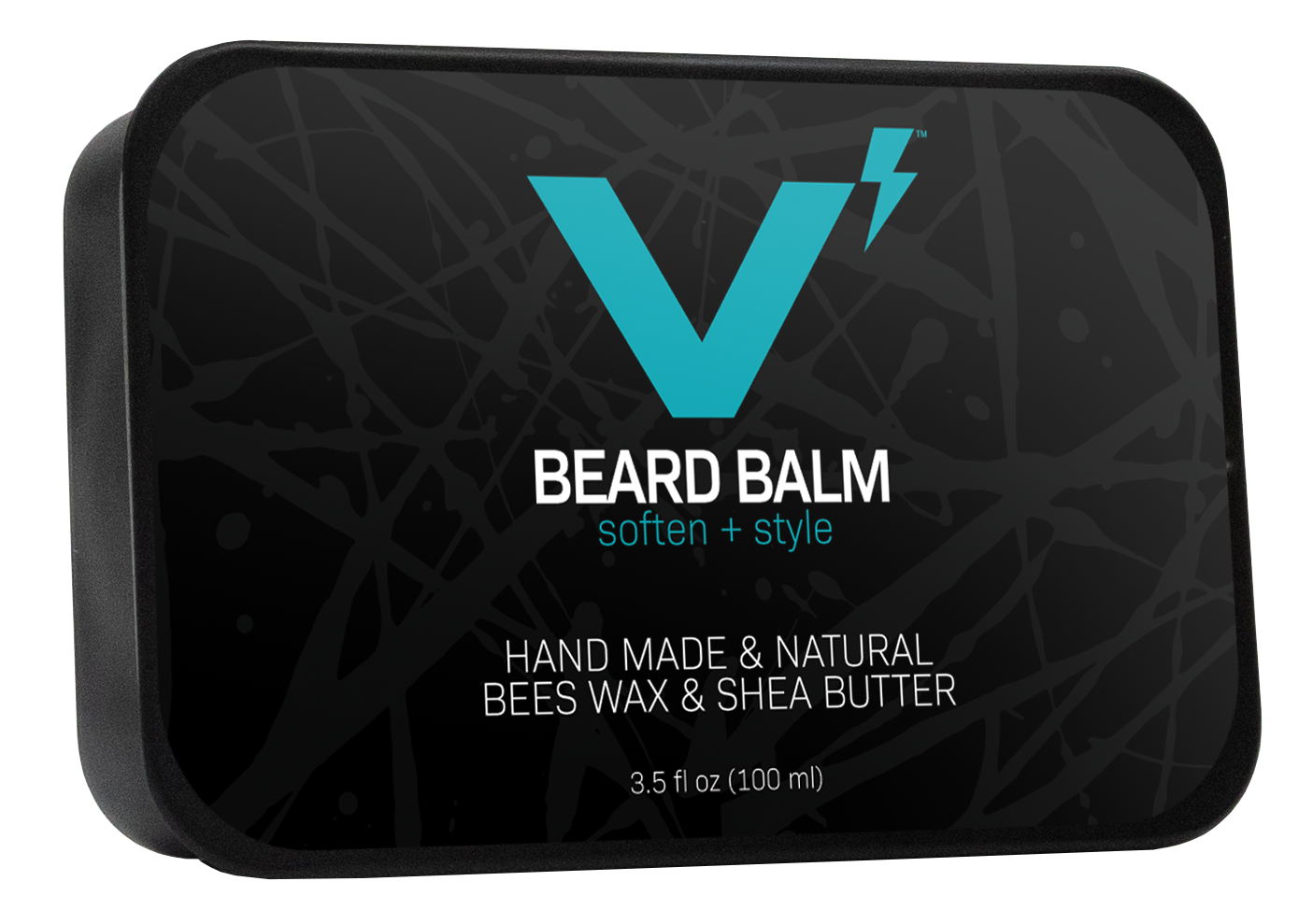 Large Beard Balm Angled Clean Background Photo